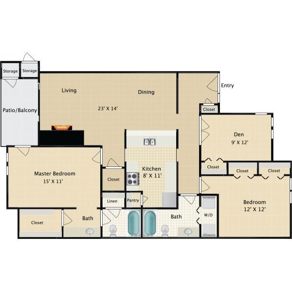 Salado Crossing Apartments - Floorplan - C1
