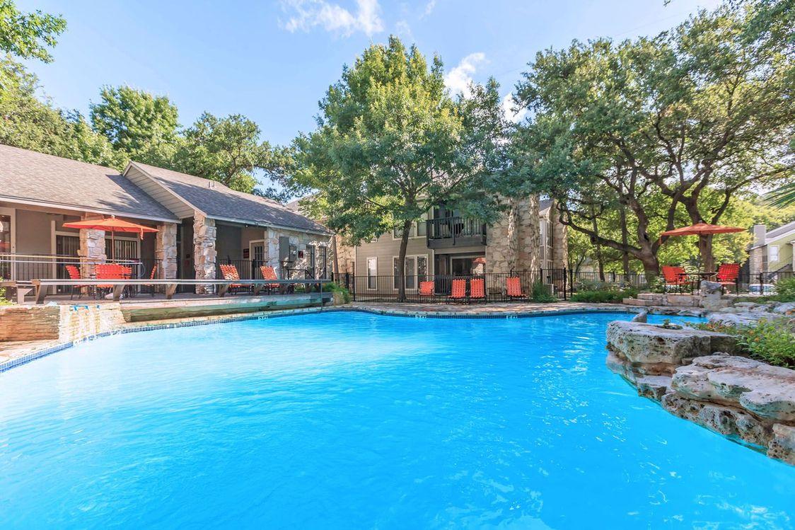 Shimmering Swimming Pool at Salado Crossing Apartment Homes in San Antonio, TX
