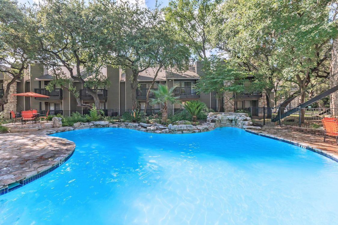 Private Patio at Salado Crossing Apartment Homes in San Antonio, TX