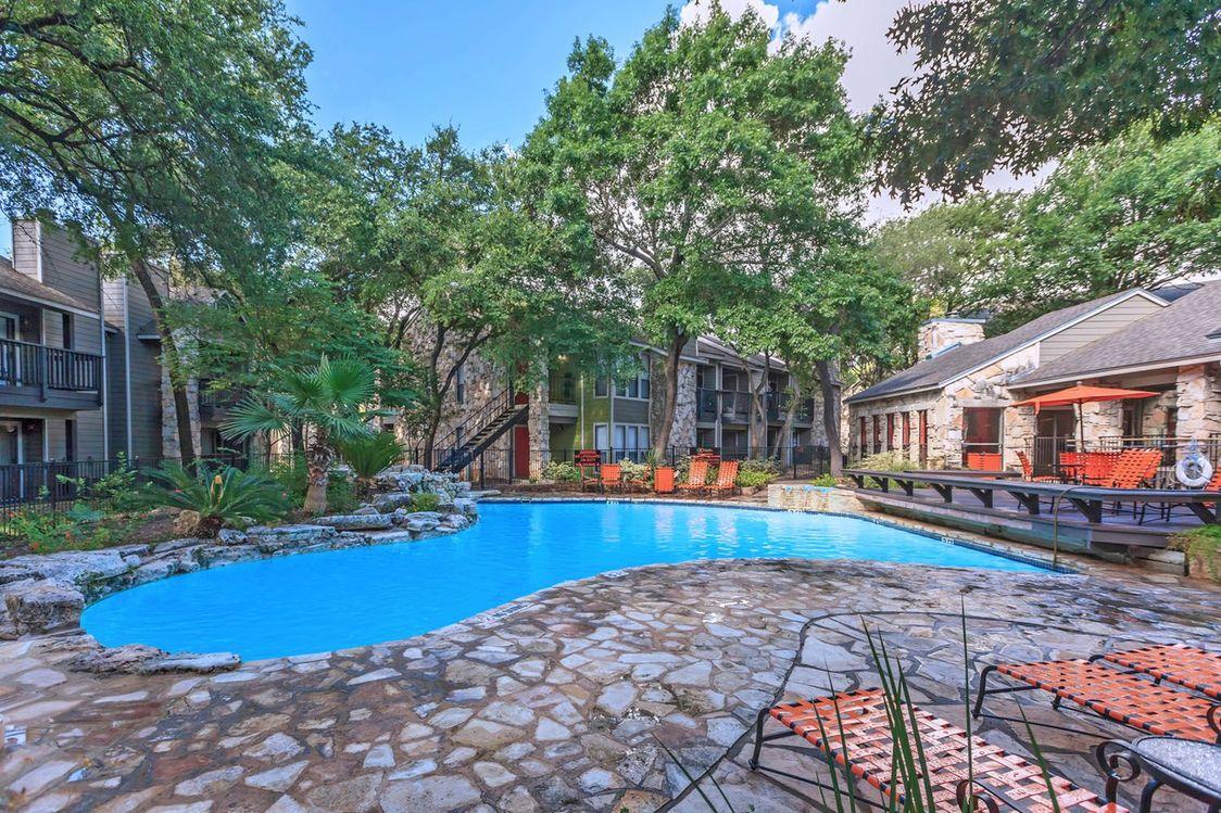 Resort Style Swimming Pool at Salado Crossing Apartment Homes in San Antonio, TX