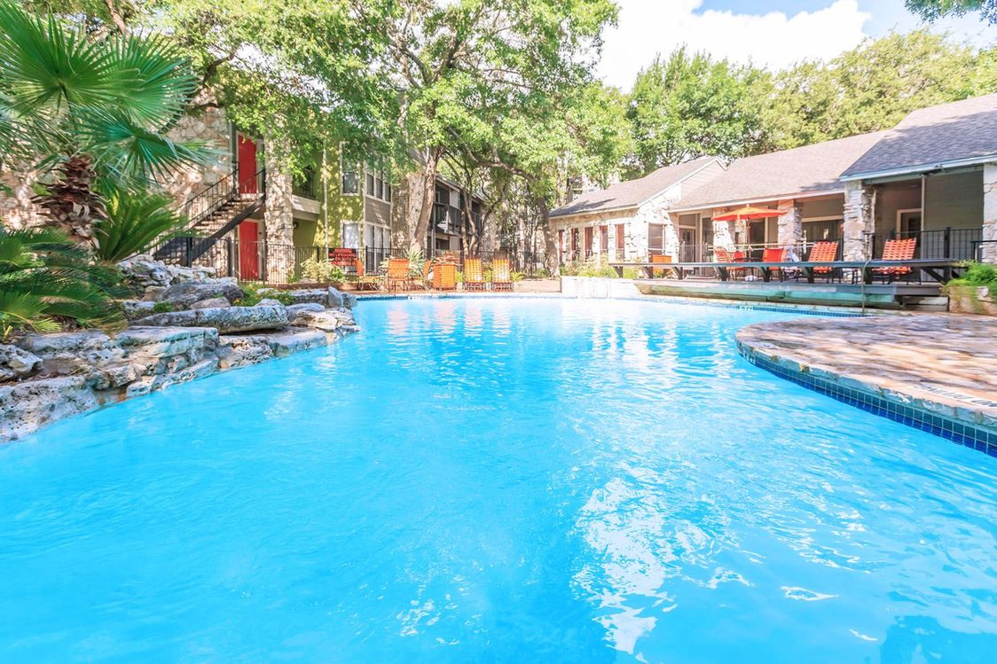 Sparkling Pool at Salado Crossing Apartment Homes in San Antonio, TX
