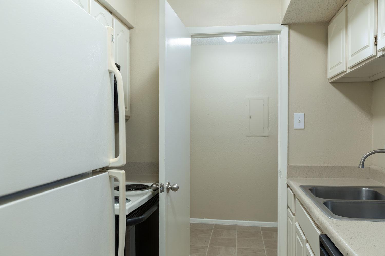 Kitchen Pantry at Sapphire Apartments in San Antonio, Texas