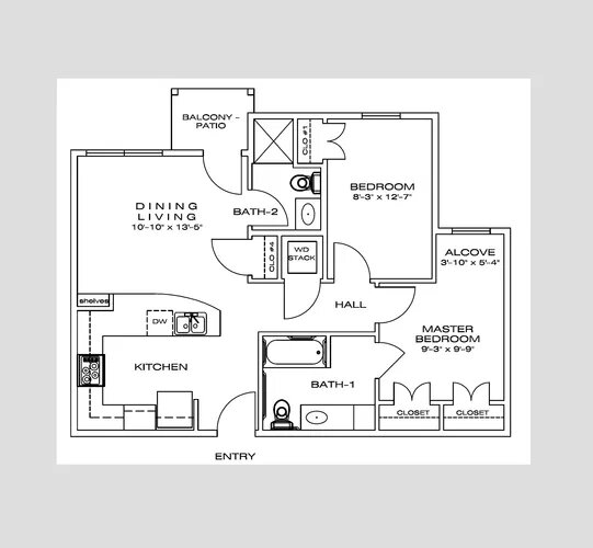 The Savannah at Gateway - Floorplan - 2 Bedroom
