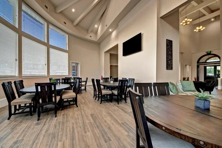 Community Clubhouse at The Savannah at Gateway Apartments in Plano, Texas