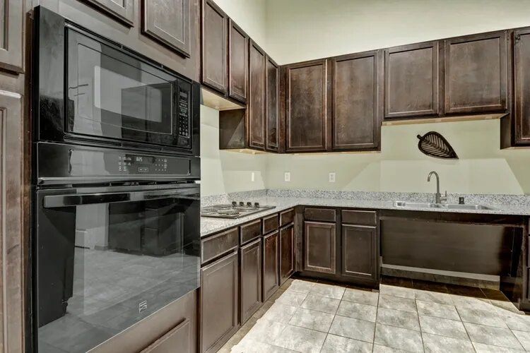 Wooden Cabinetry at The Savannah at Gateway Apartments in Plano, Texas