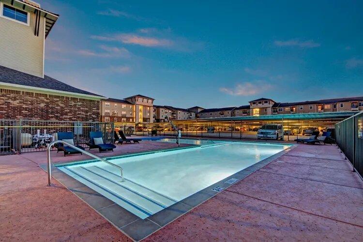 Sparkling Swimming Pool at The Savannah at Gateway Apartments in Plano, Texas