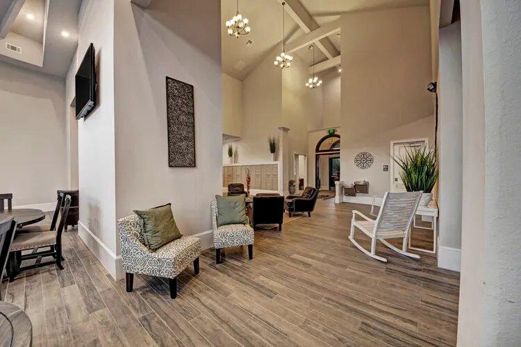 Hardwood-Style Flooring at The Savannah at Gateway Apartments in Plano, Texas