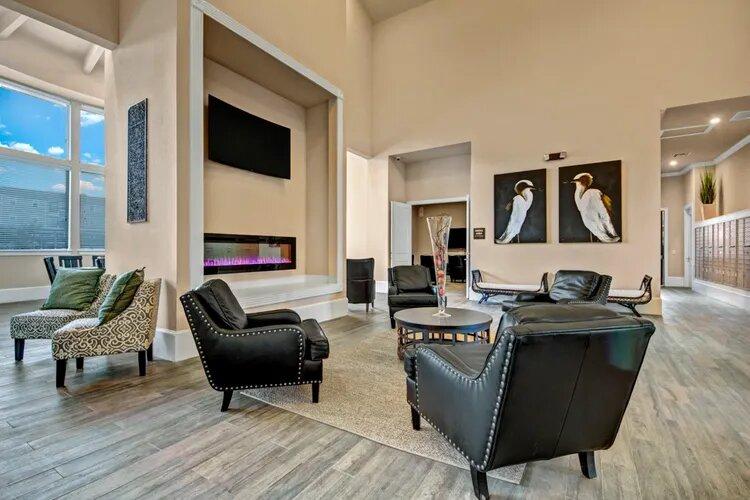 Community Room at The Savannah at Gateway Apartments in Plano, Texas