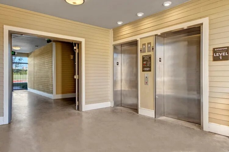 On-Site Elevators at The Savannah at Gateway Apartments in Plano, Texas