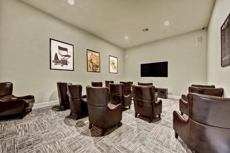 Movie Viewing Room at The Savannah at Gateway Apartments in Plano, Texas