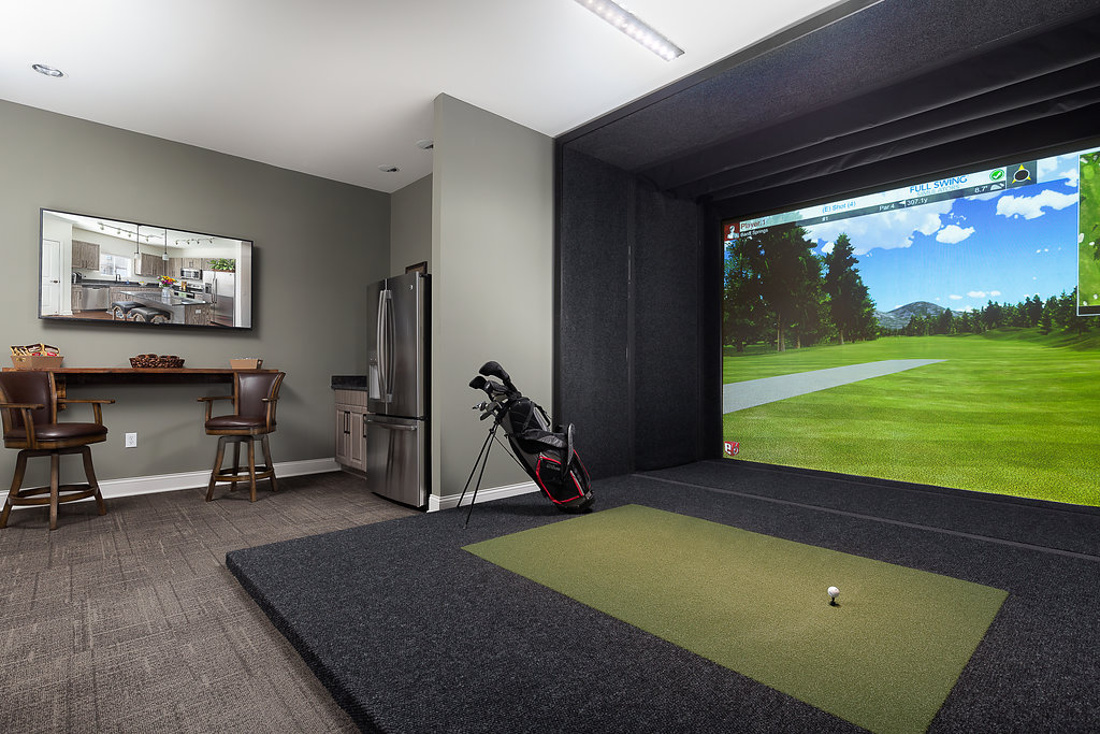 State-of-the-Art Golf Simulator at Savannah West Apartments in Kansas City, MO