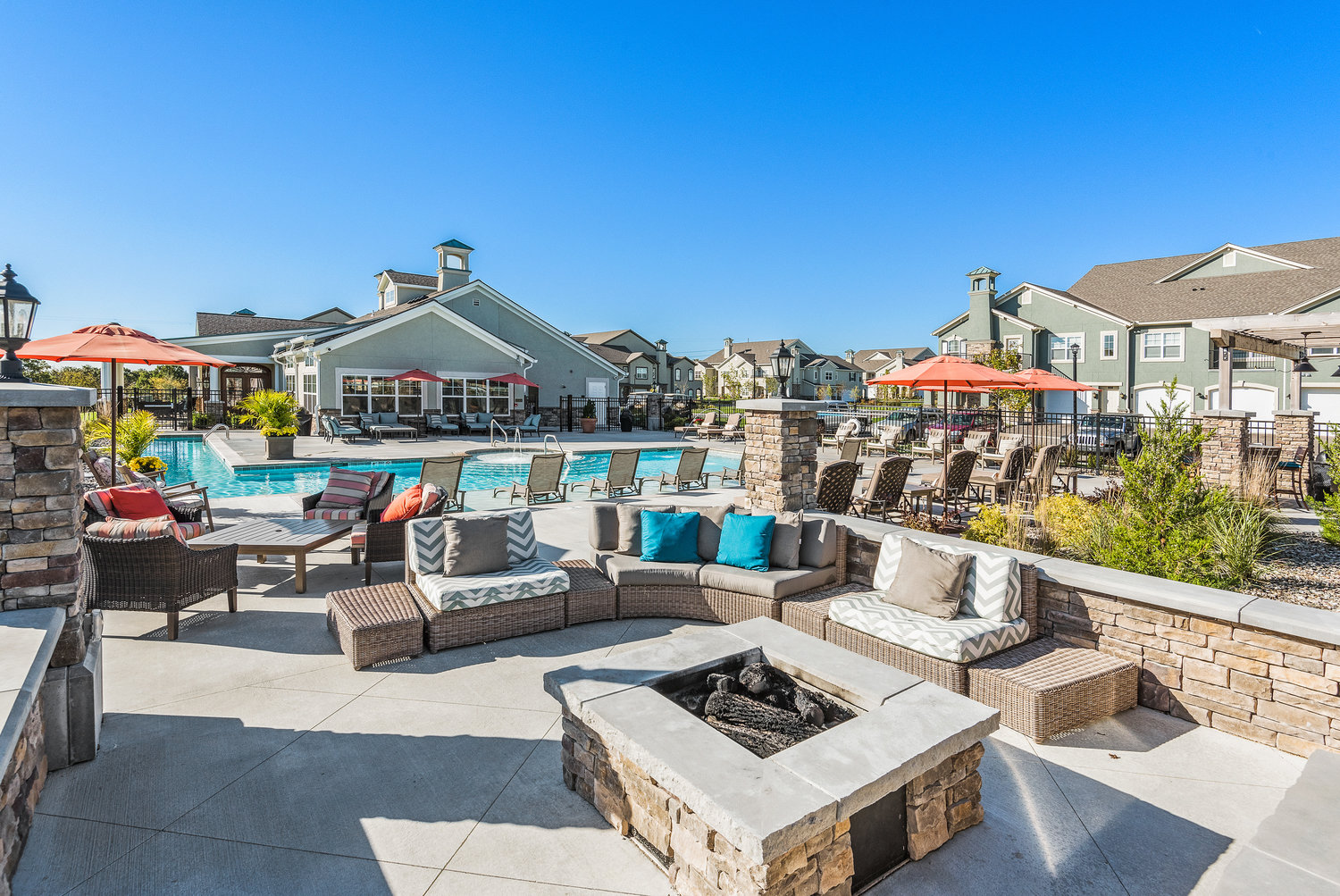 Outdoor Entertainment Area at Savannah West in Kansas City, MO