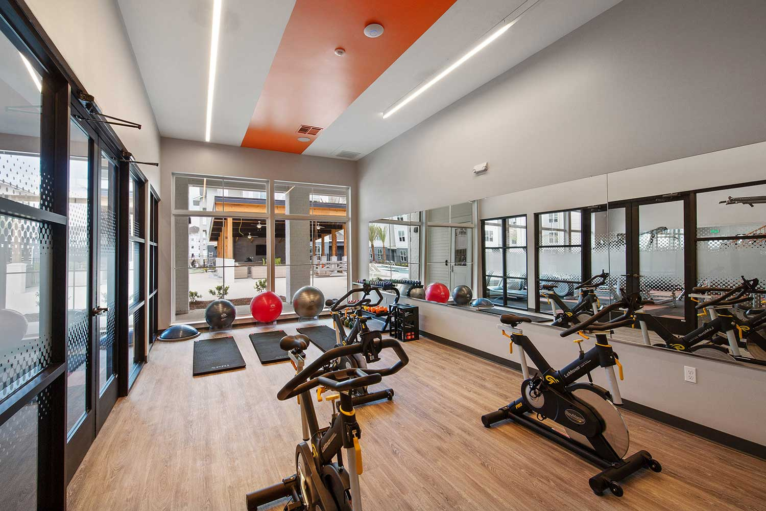 1500+ Square Foot Fitness Center and Yoga Room at Sawgrass Point in Gonzales, Louisiana