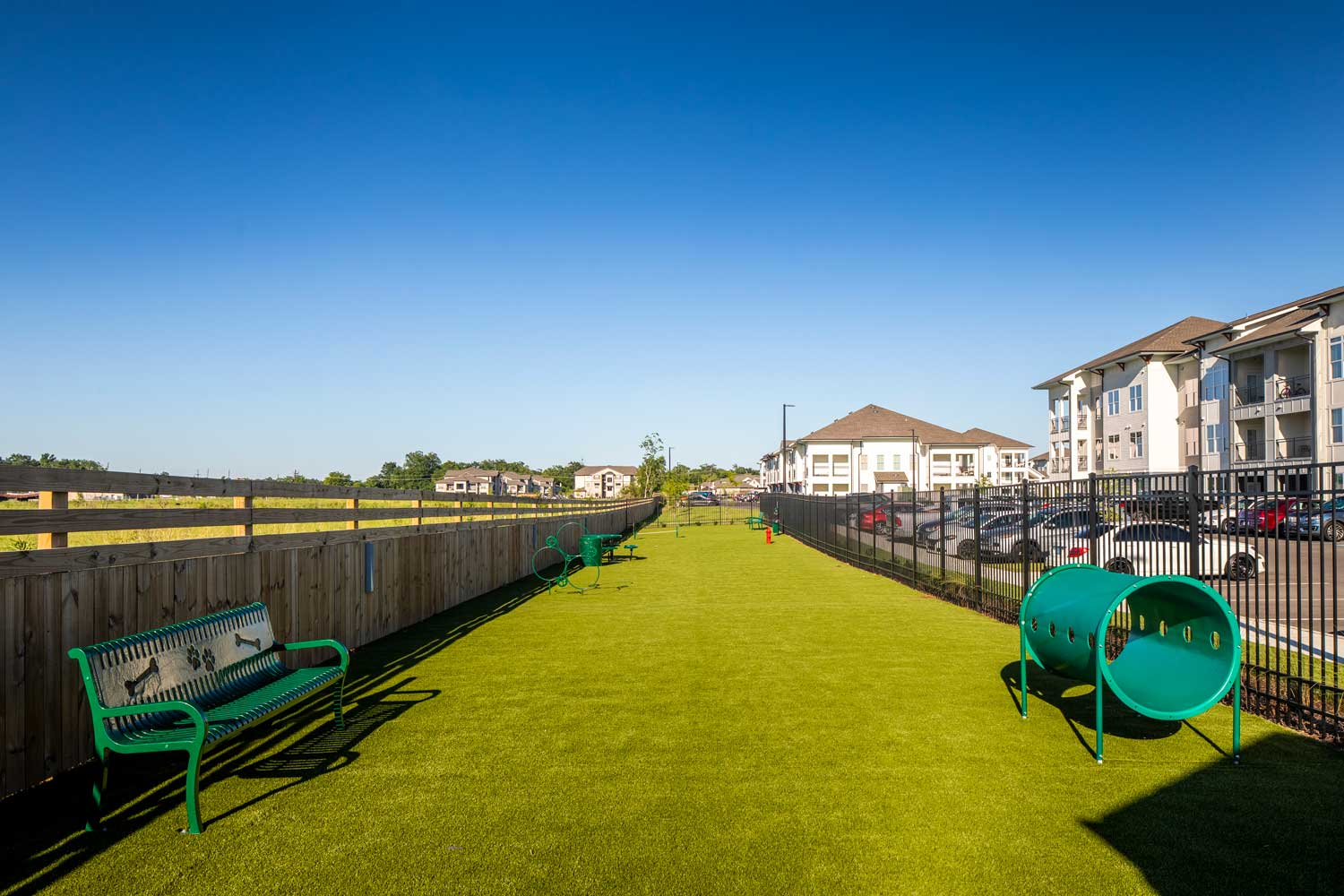Spacious Dog Park at Sawgrass Point in Gonzales, Louisiana