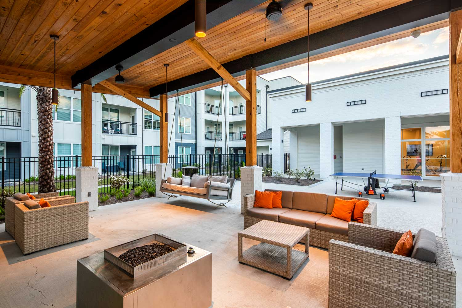Outdoor Lounge at Sawgrass Point in Gonzales, Louisiana