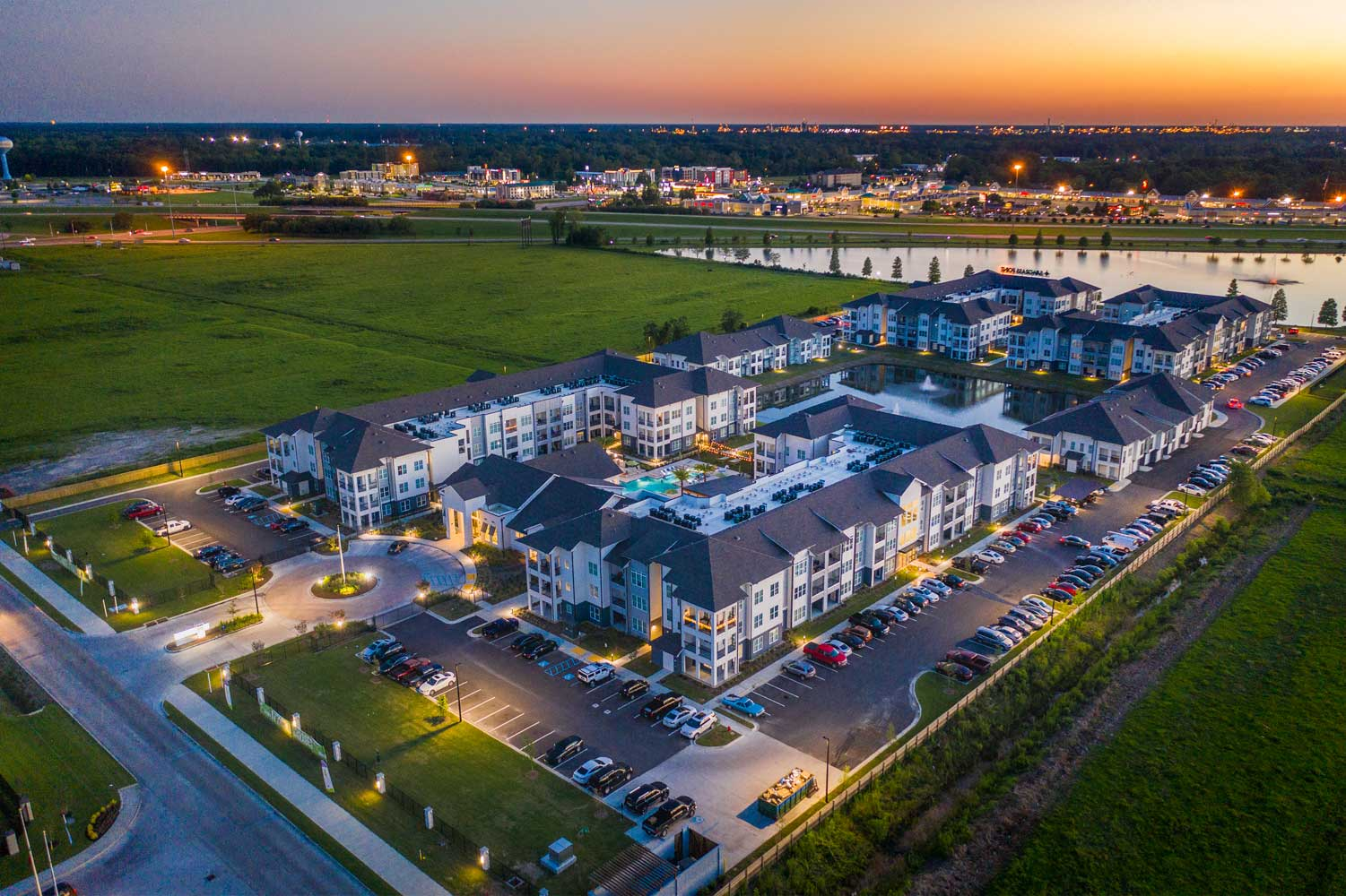 Aerial View at at Sawgrass Point in Gonzales, Louisiana