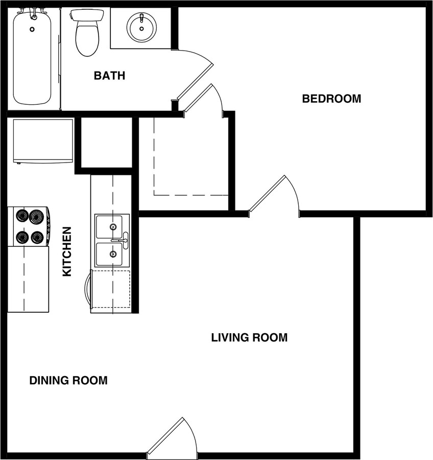Sawmill Apartments - Floorplan - JR. 1 BEDROOM