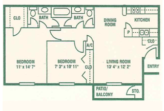 Floorplan - Two Bedroom B image