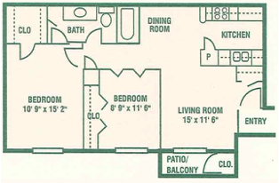 Informative Picture of Two Bedroom A