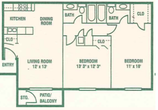 Floorplan - Two Bedroom C image