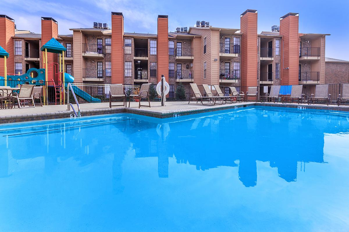 Shimmering Swimming Pool at Sedona Ridge Apartments in Dallas, TX