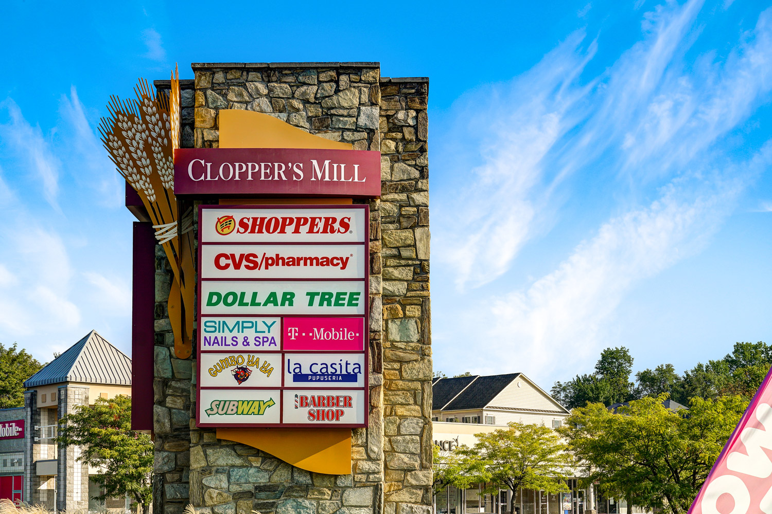 Cloppers Mill shopping center is 3 minutes from Seneca Club Apartments in Germantown, MD