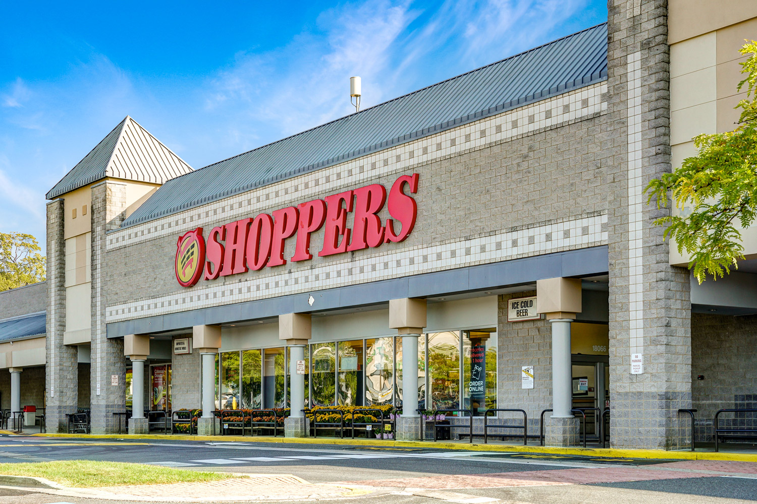 Shoppers grocery store is 5 minutes from Seneca Club Apartments in Germantown, MD