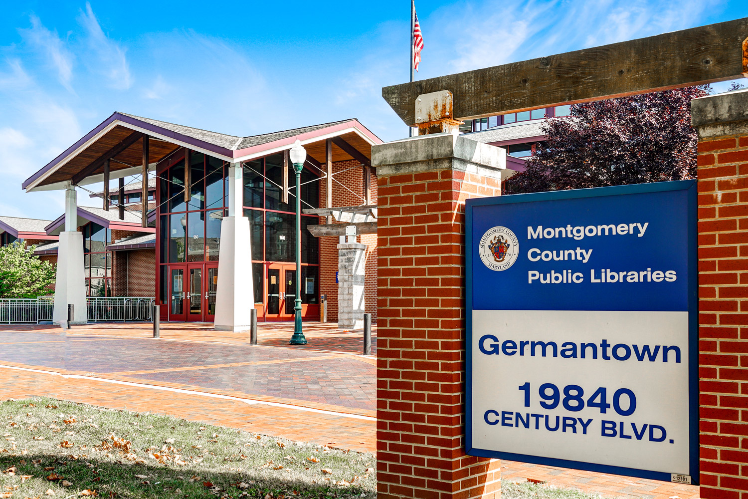 Germantown Public Library is 5 minutes from Seneca Club Apartments in Germantown, MD