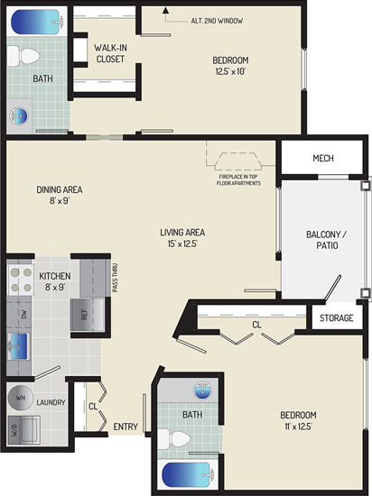 Seneca Club Apartments - Apartment 638011-202-D2