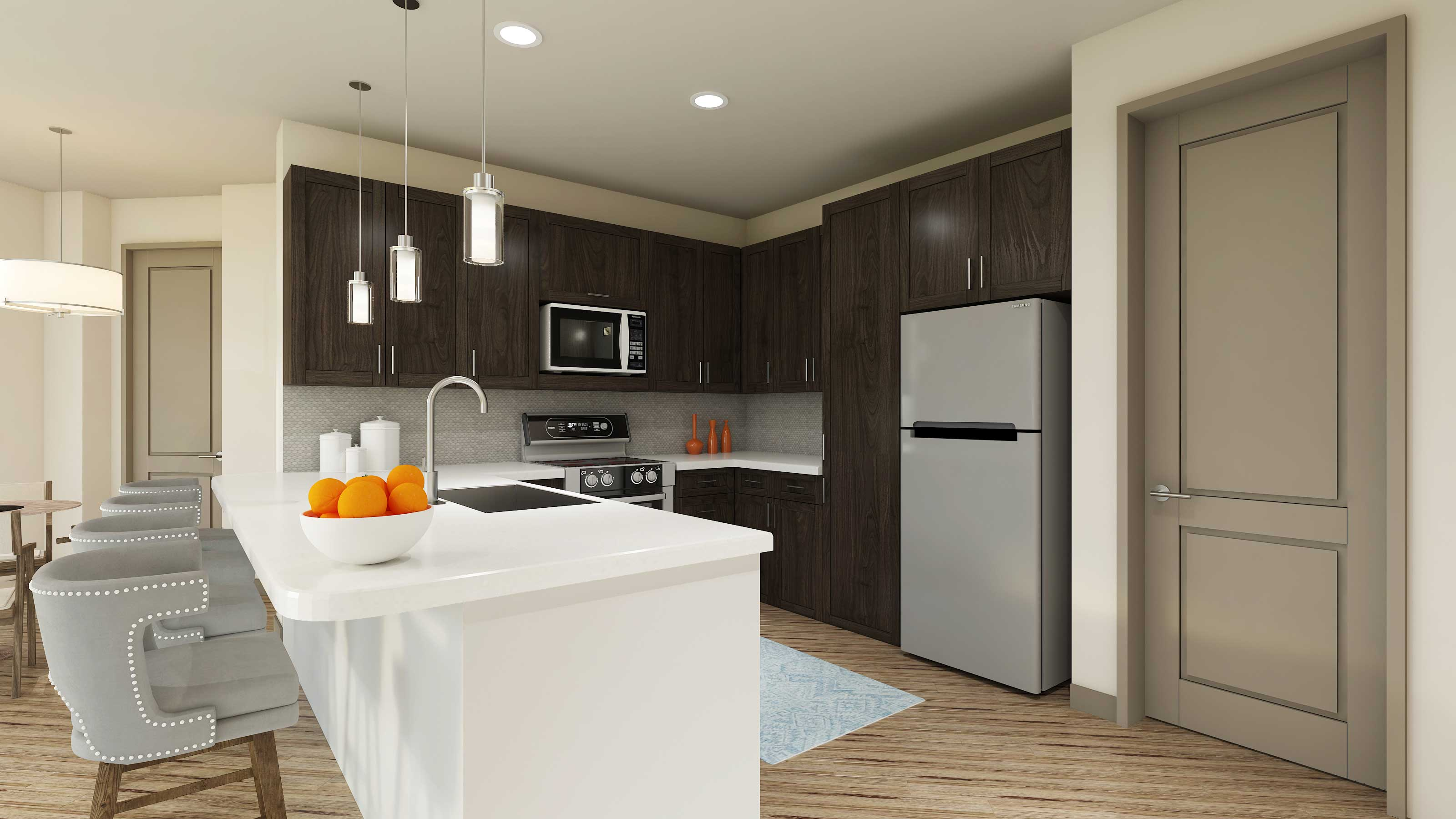 Gourmet Kitchens at The Reserve at Shoe Creek Apartments in Central, Louisiana