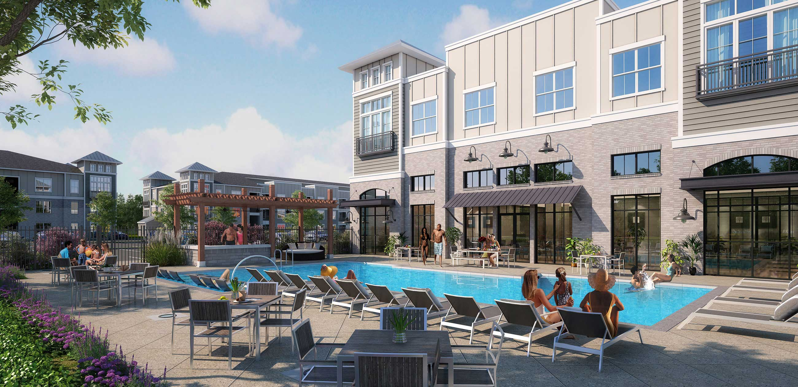 Resort-Style Swimming Pool at The Reserve at Shoe Creek Apartments in Central, Louisiana