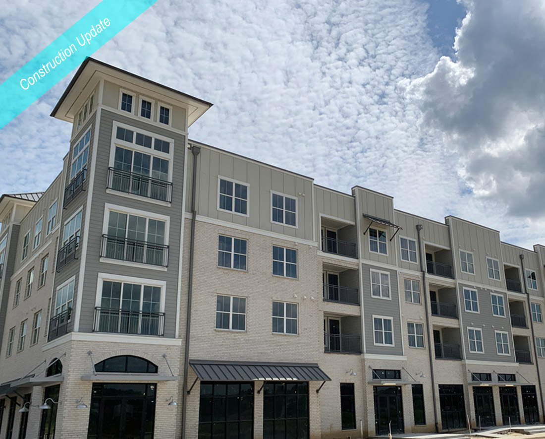 All New Apartments at The Reserve at Shoe Creek Finishing Construction