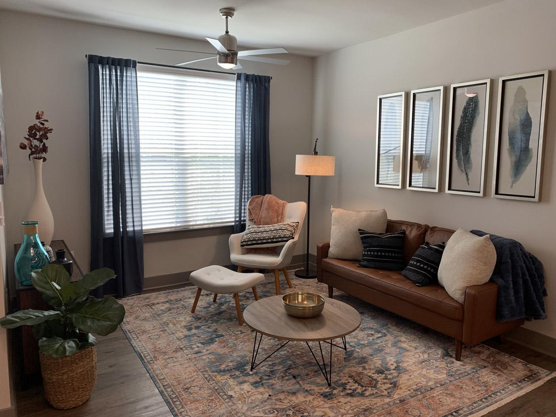 Reserve at Shoe Creek Apartment Living Room Model