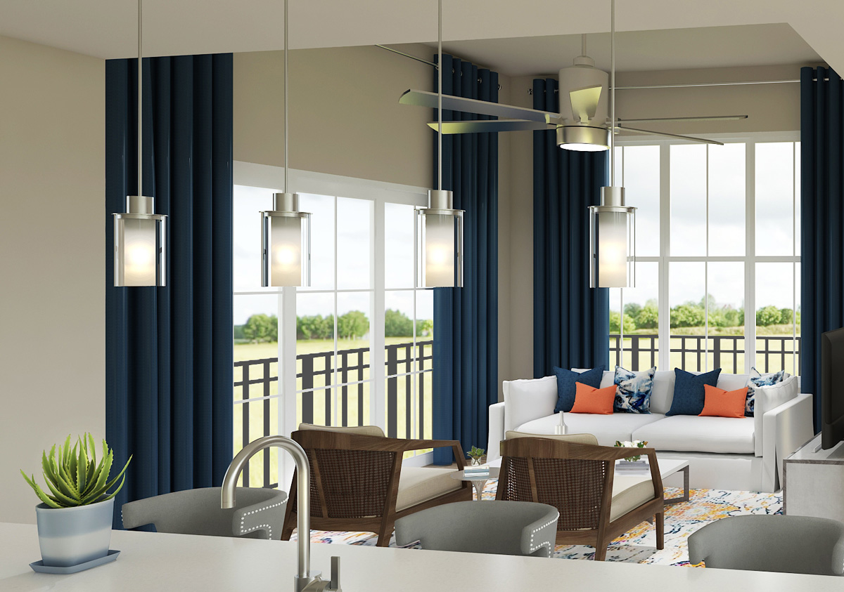 Open Concept Floor Plans at The Reserve at Shoe Creek Apartments in Central, Louisiana