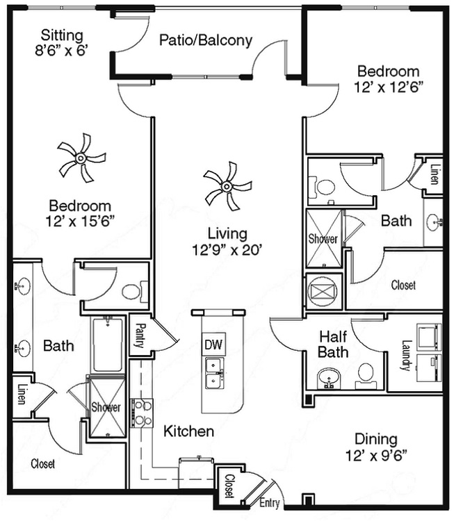 The Sidney at Morningside - Floorplan - D