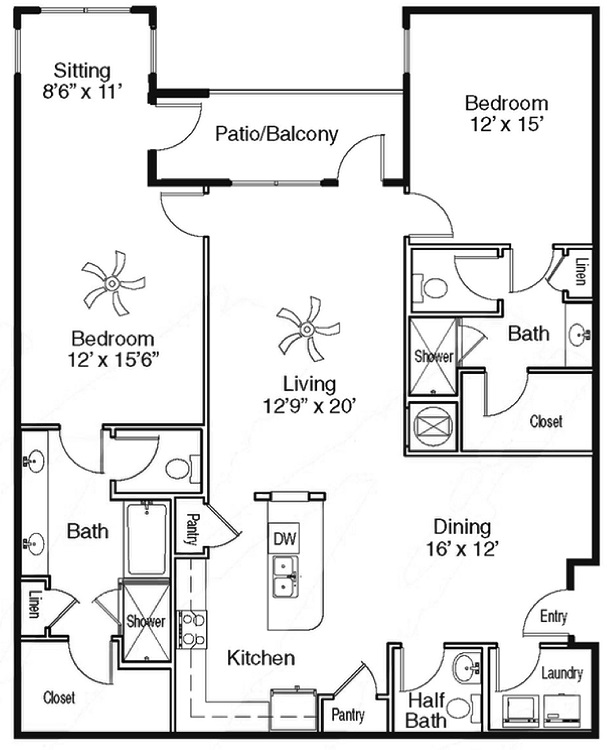 The Sidney at Morningside - Floorplan - F