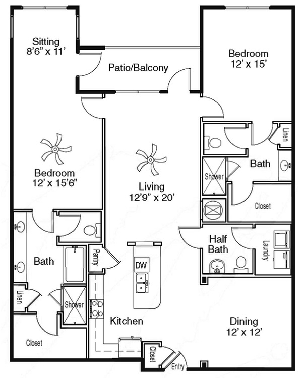 The Sidney at Morningside - Floorplan - G