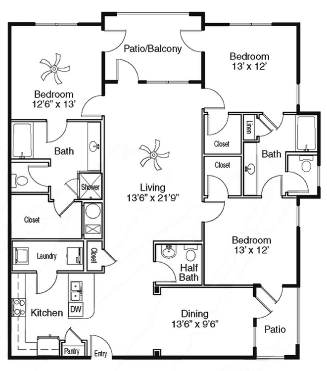 The Sidney at Morningside - Floorplan - L