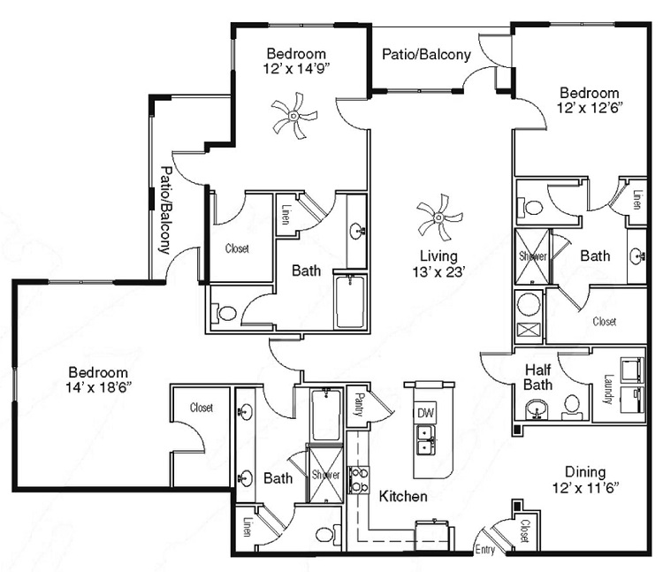 The Sidney at Morningside - Floorplan - N