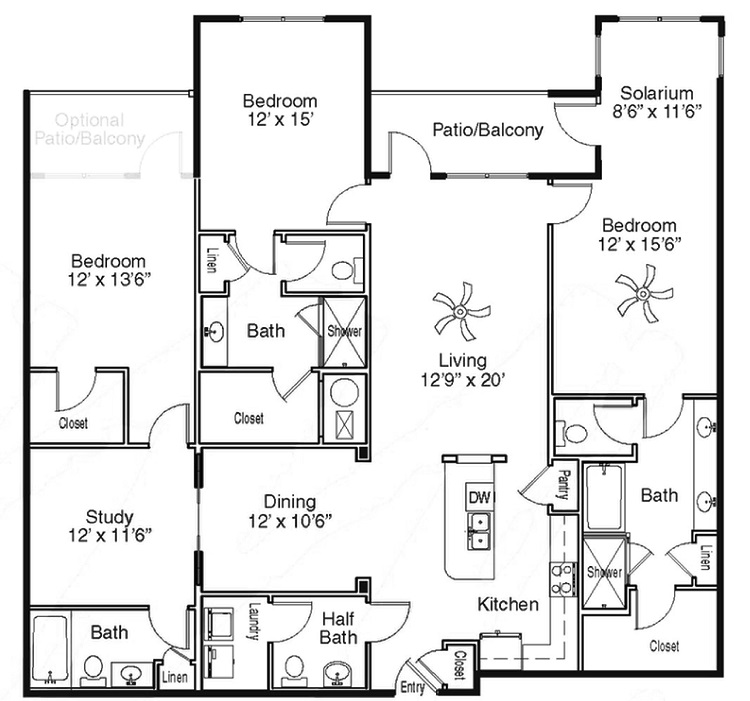 The Sidney at Morningside - Floorplan - O