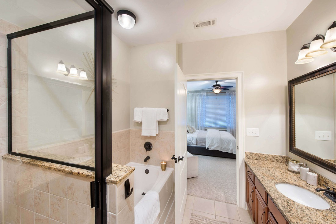 Pristine Bathrooms at The Sidney at Morningside Apartments in Atlanta, Georgia