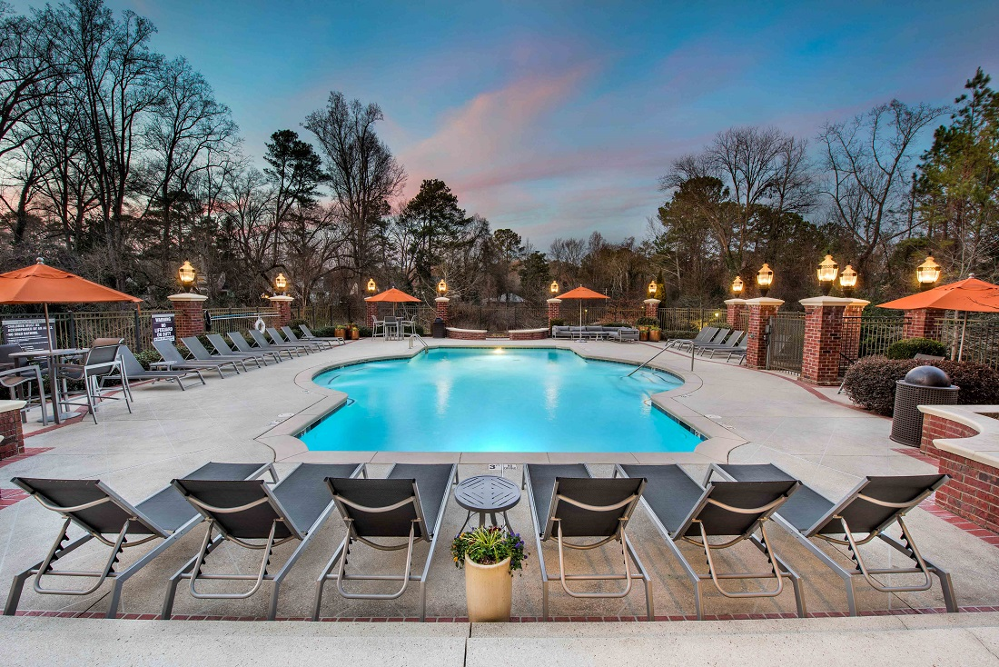 Resort-Style Swimming Pool at The Sidney at Morningside Apartments in Atlanta, Georgia