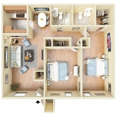 Sienna Villas Apartment Homes - Floorplan - 2C