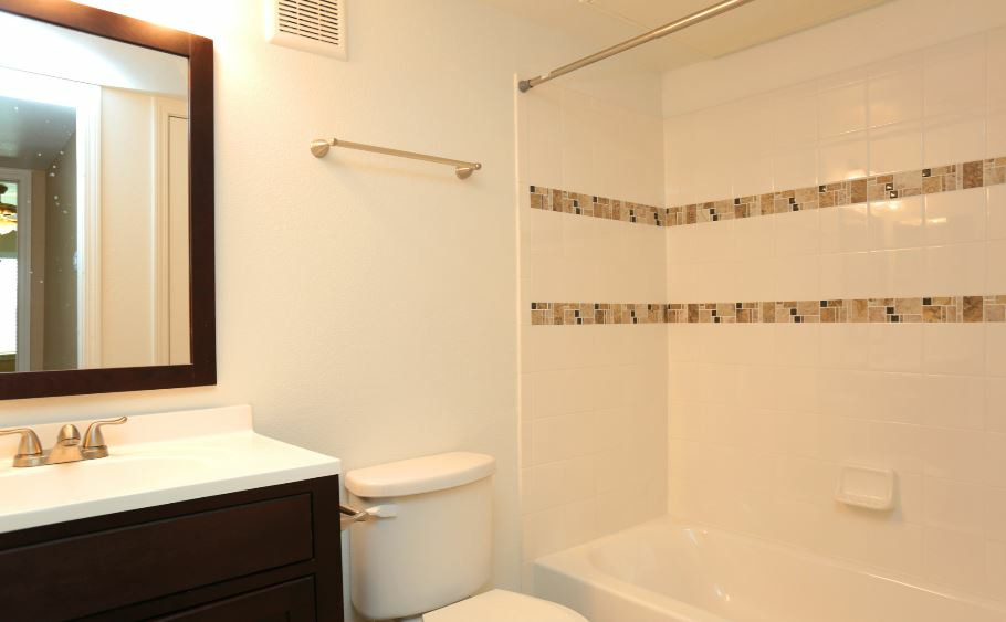 Shower and Tub Combination at Sienna Villas Apartment Homes in Freeport, TX