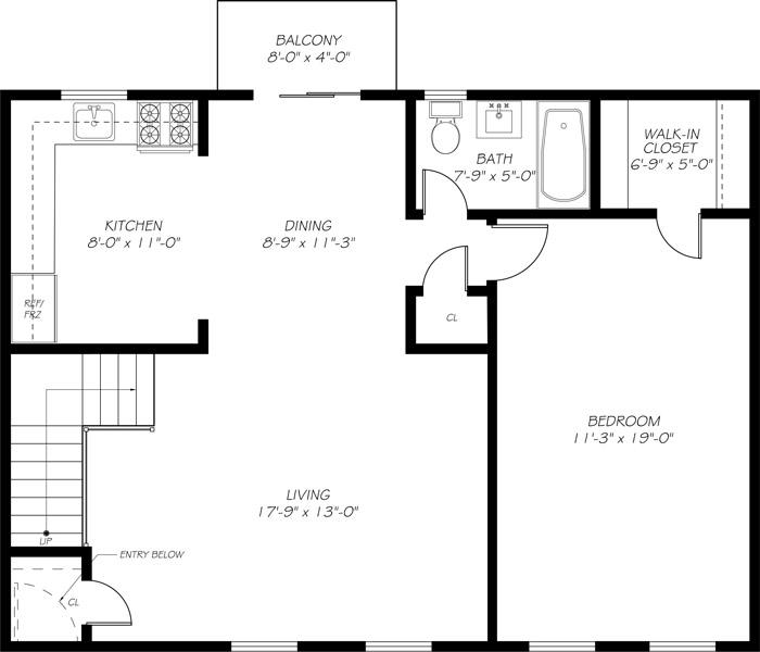 Somerville Gardens - Floorplan - 1Bed
