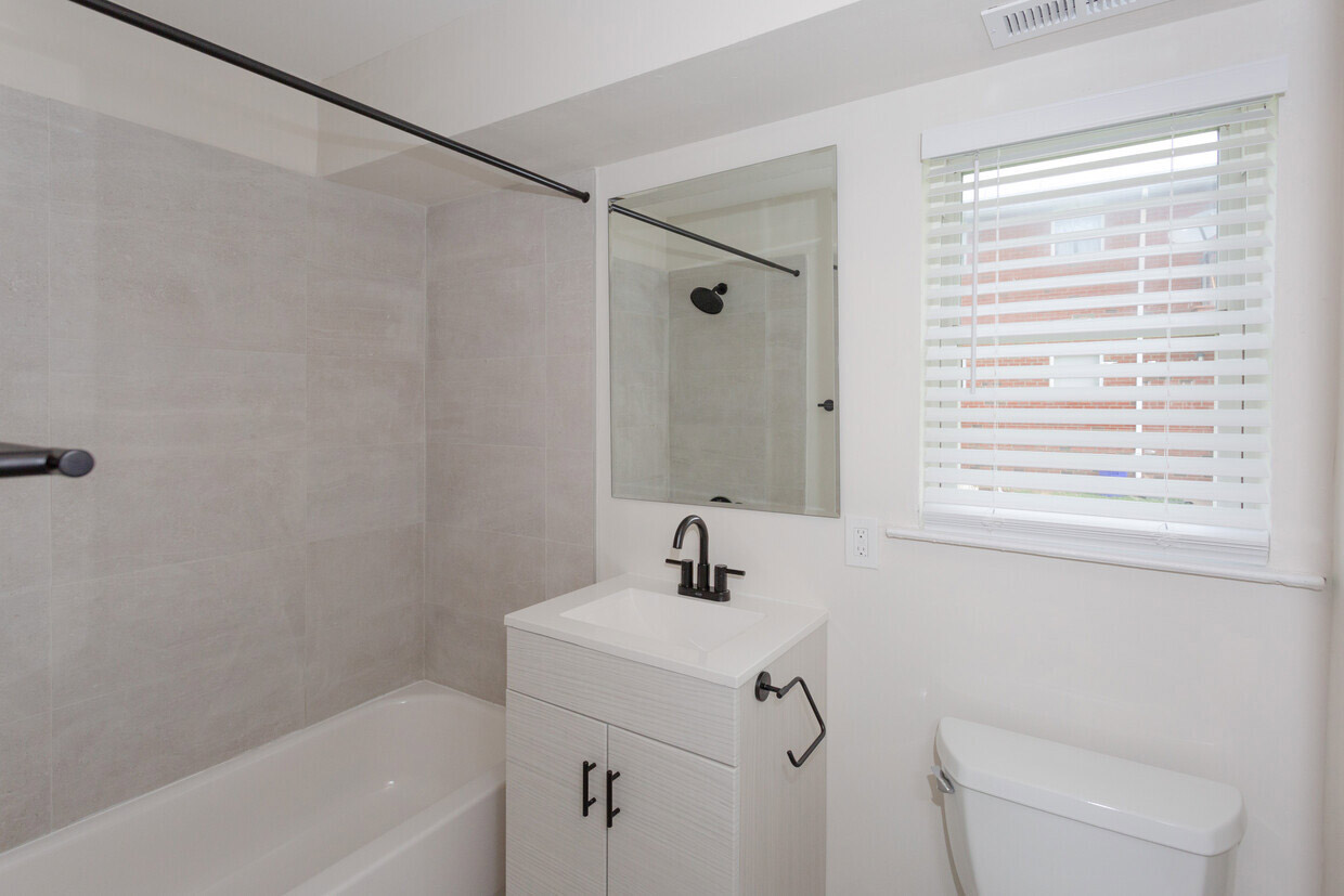Bathtub and Shower at Somerville Gardens Apartments in Somerville, New Jersey