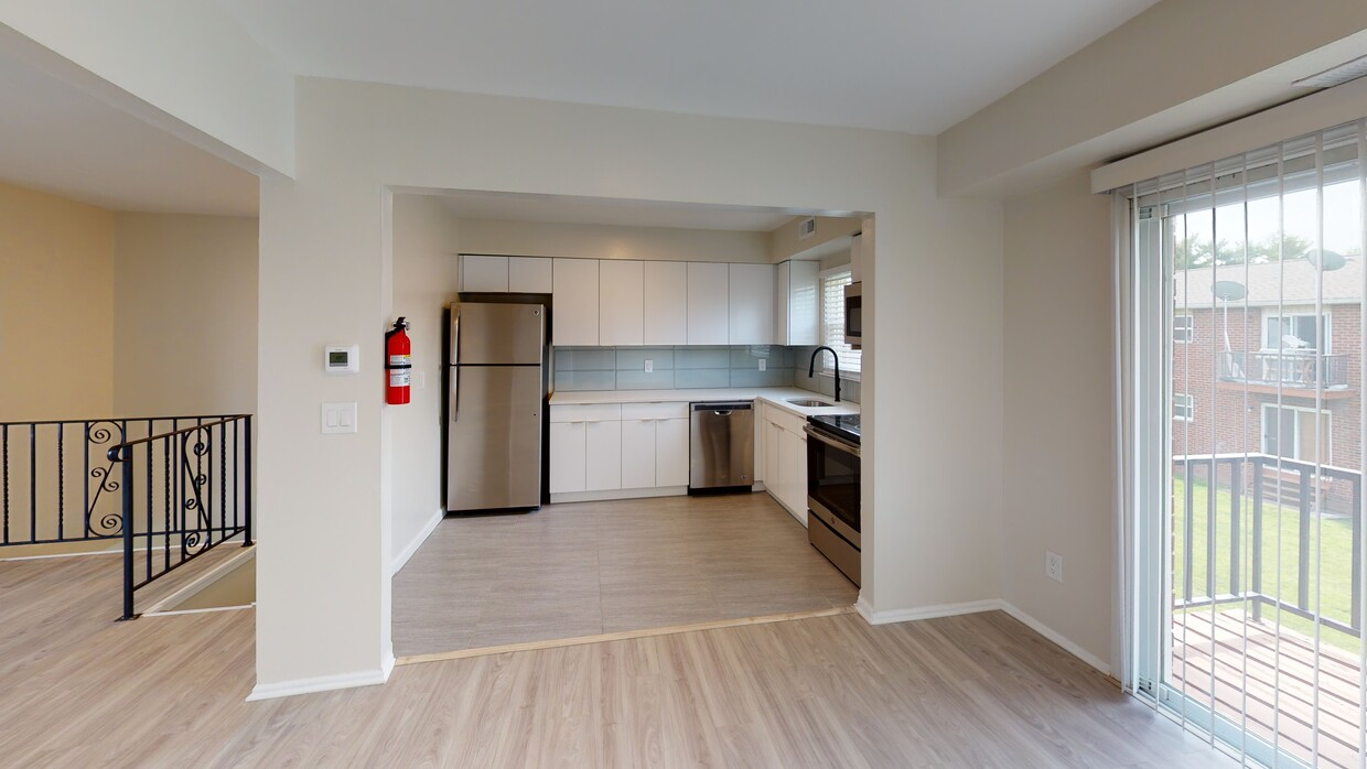Separated Kitchen Area at Somerville Gardens Apartments in Somerville, New Jersey
