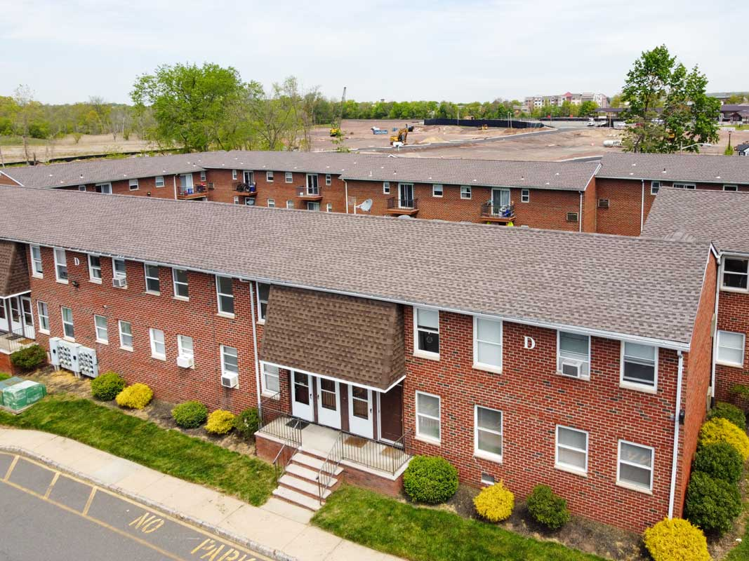 Aerial View of Somerville Gardens Apartments in Somerville, New Jersey