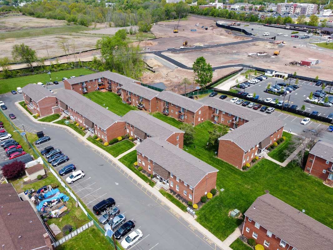 Bird's Eye View of Somerville Gardens Apartments in Somerville, New Jersey