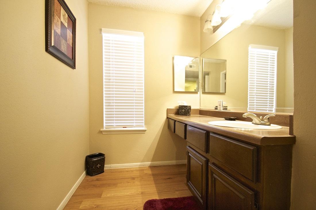 Spacious Bathrooms at Songbird Apartments in San Antonio, Texas